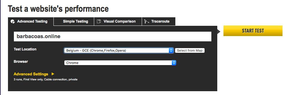 سرعة الويب webpagetest
